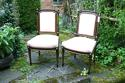 Pair of second empire salon chairs - picture 1