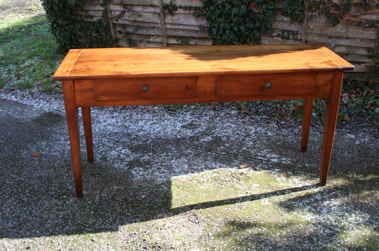 French cherry wood serving /side table