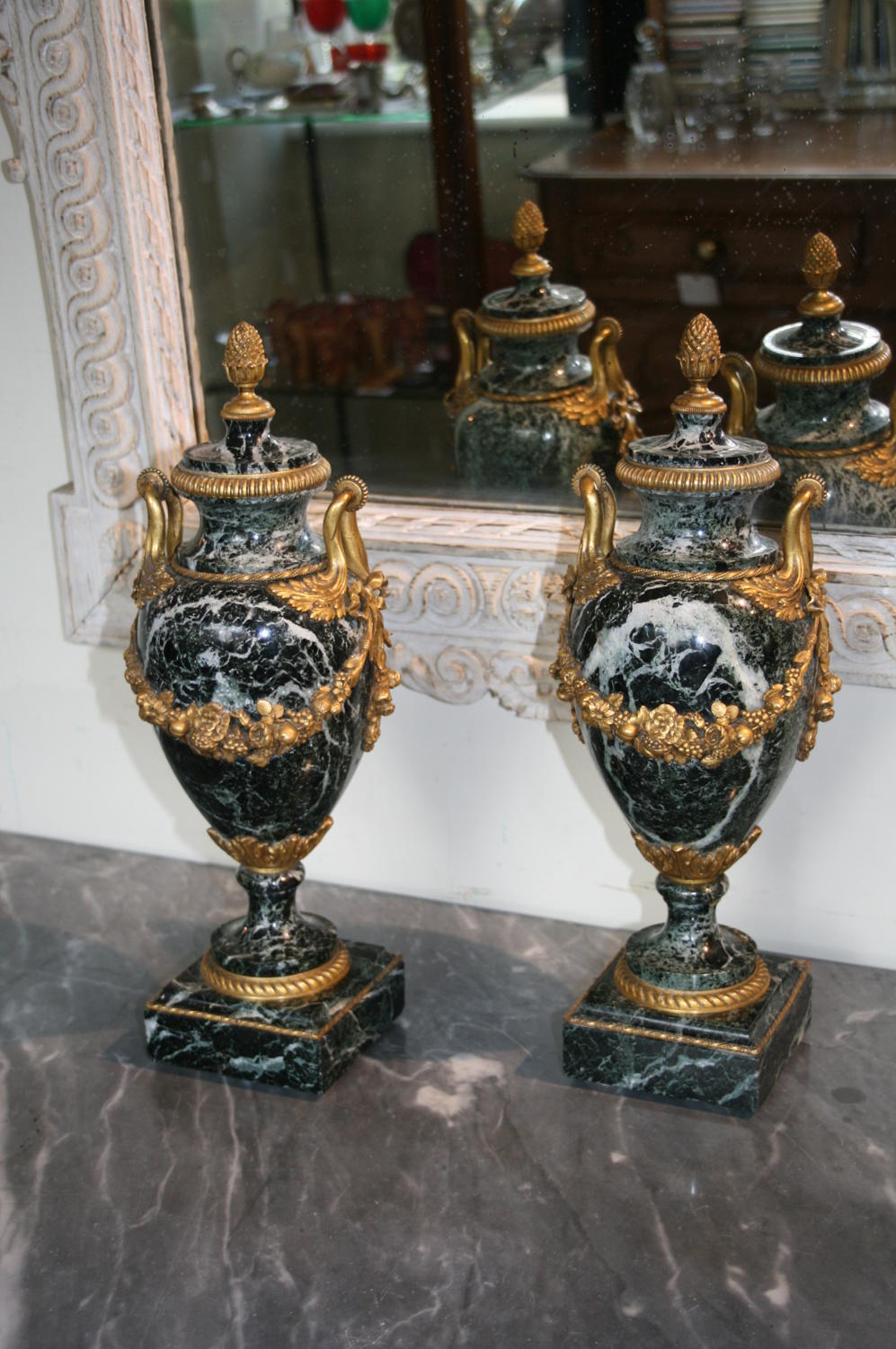 Pair french cassolettes or urns