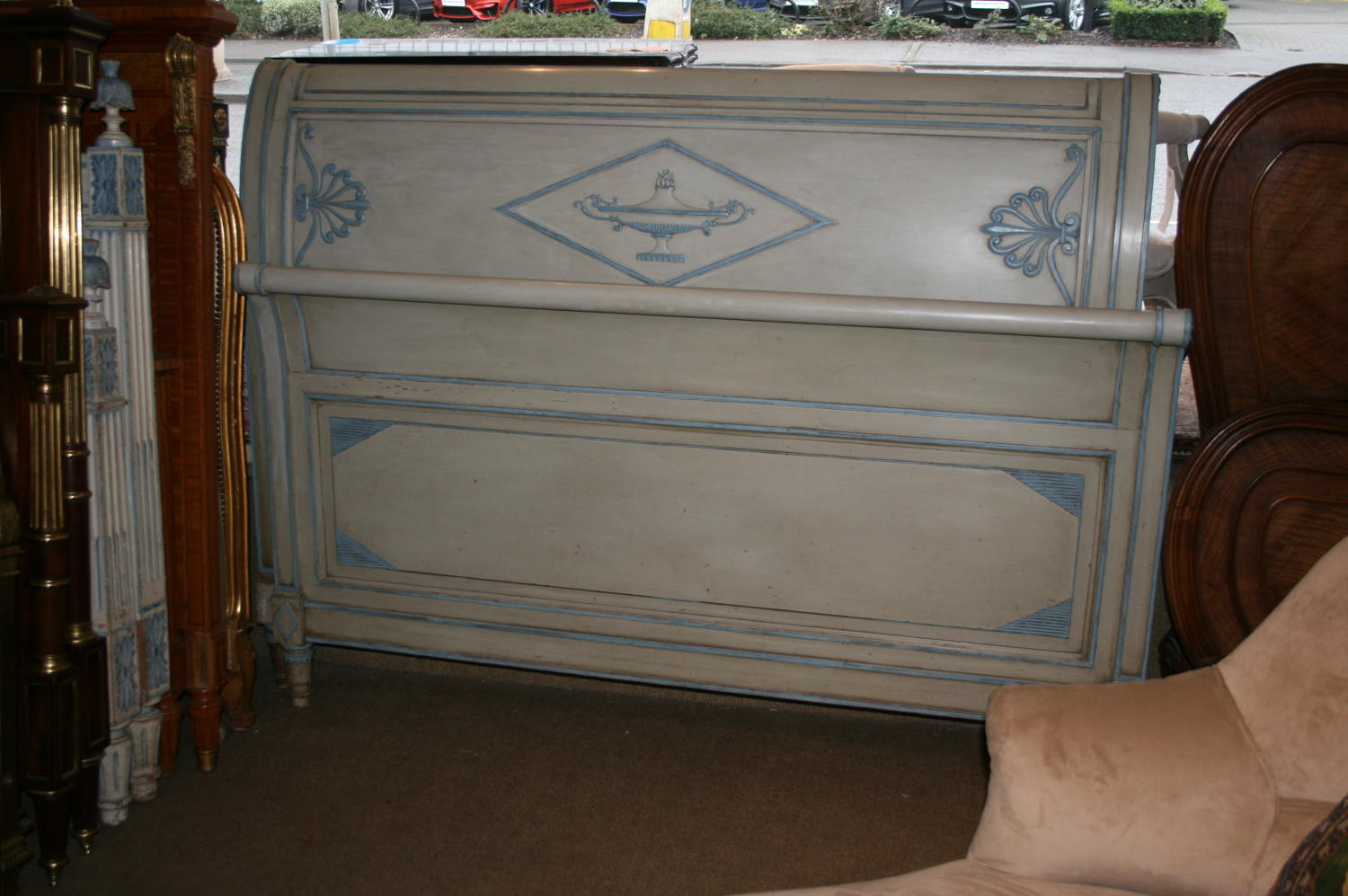 King size french neo classical bed
