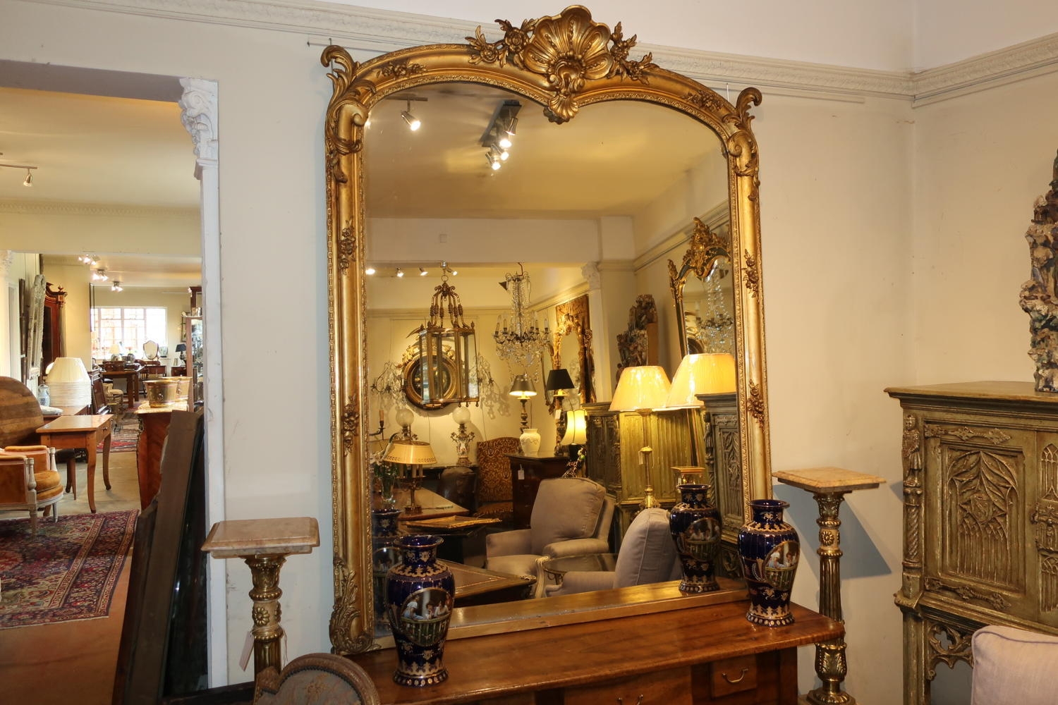 Very large gilt mirror