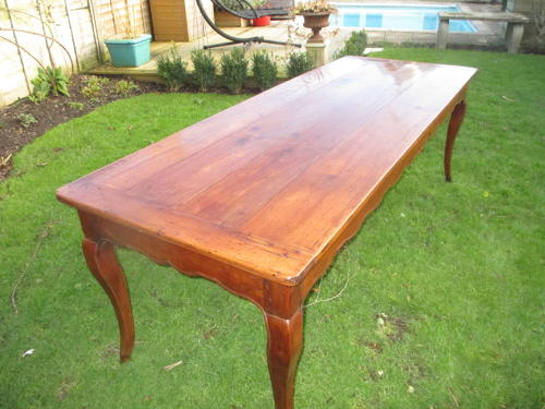 Large French fruit-wood table