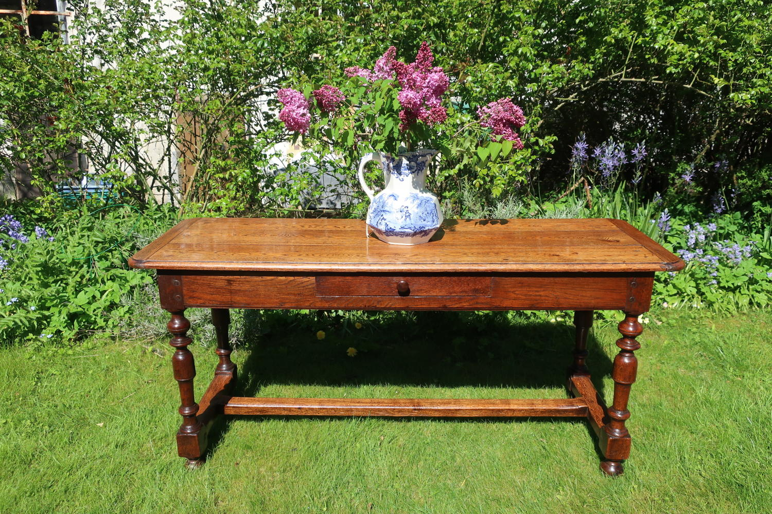 Oak serving table