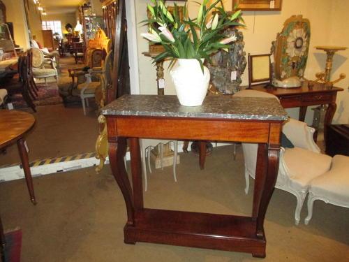 Flame Mahogany console table