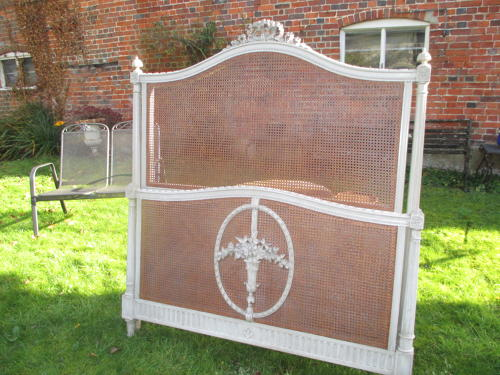 French caned bed