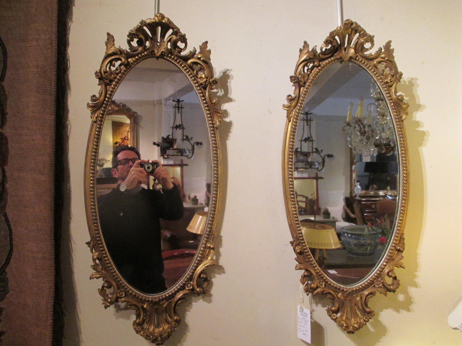 Pair of English gilt mirrors