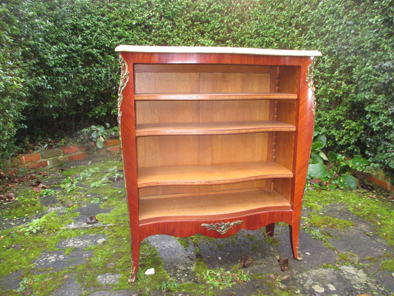 French open bookcase