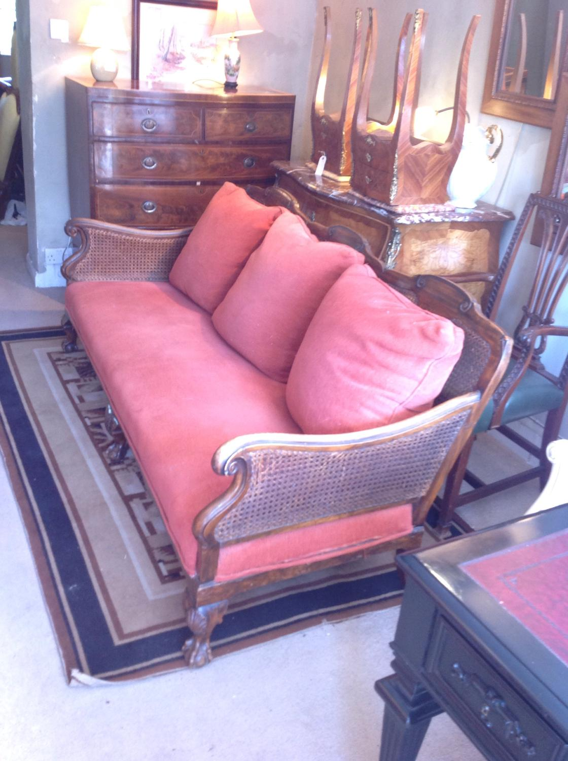 Caned Settee