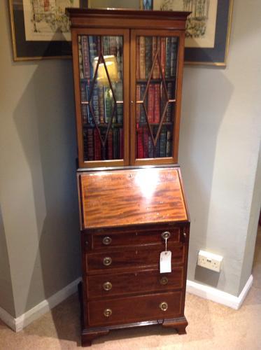 Edwardian Mahogany Bureau Bookcase