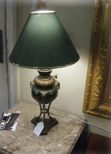 French Bronze Lamp