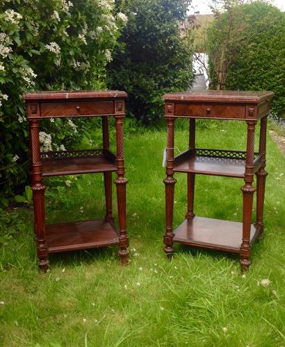 French Pair of bedside tables