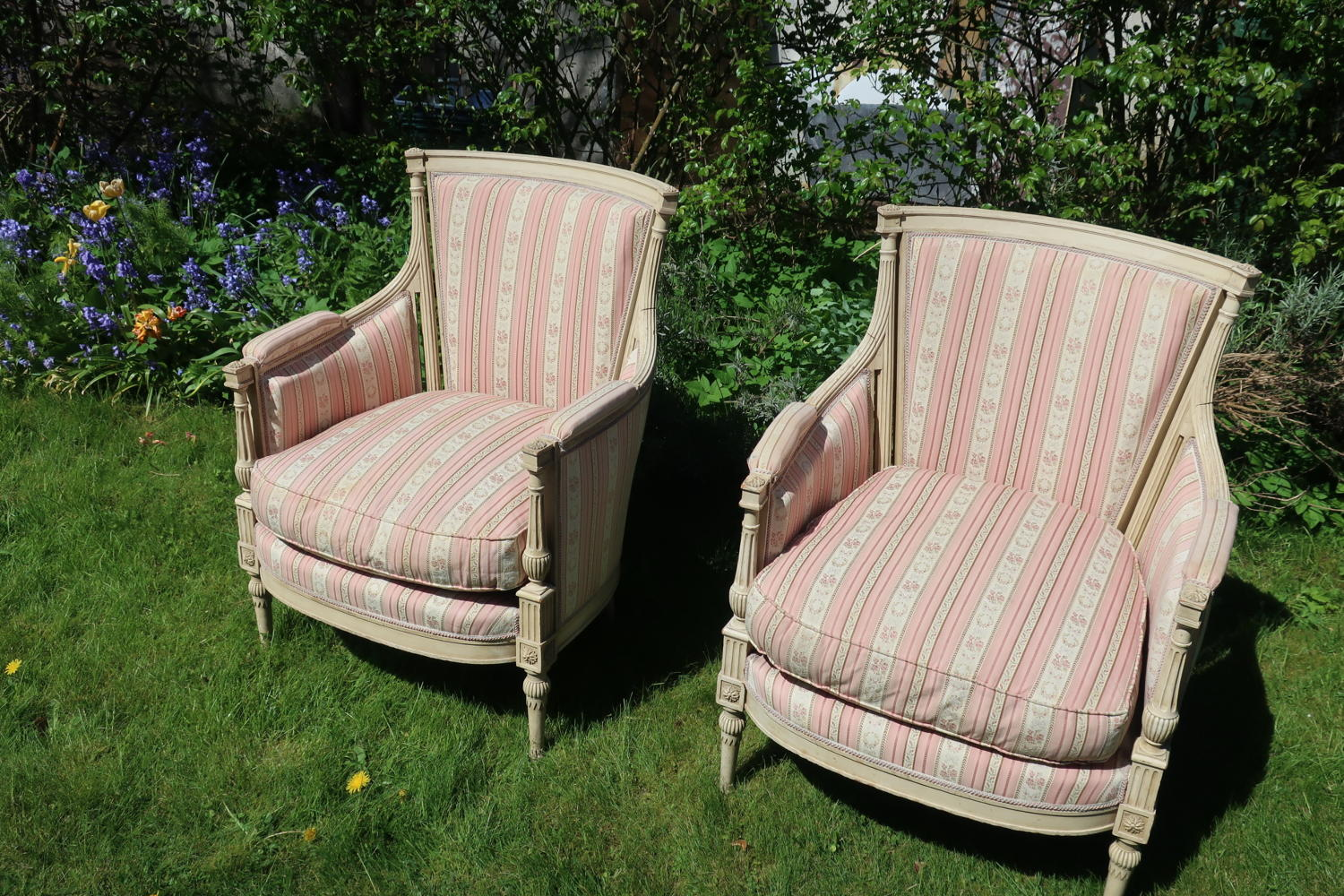 Pair of French painted