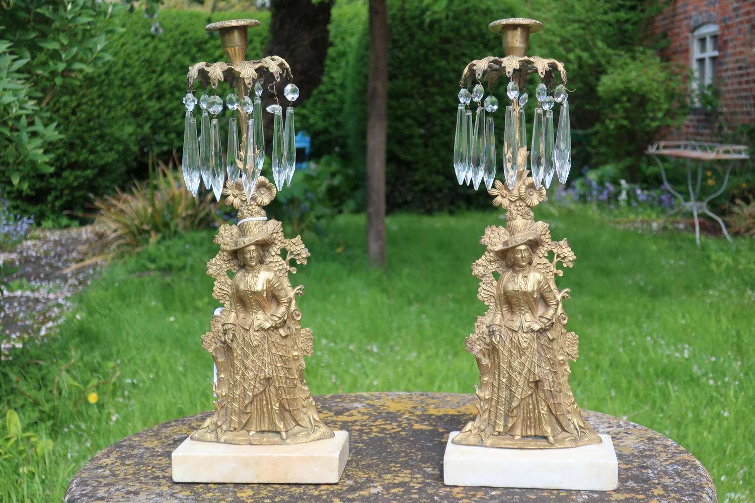 Pair of figural candlesticks