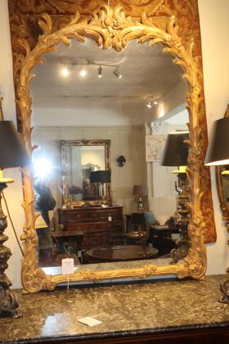 Carved gilt mirror