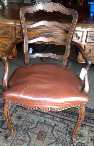 French Oak Desk Chair