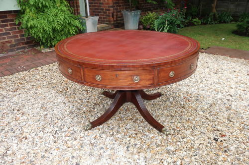 George III Mahogany drum table