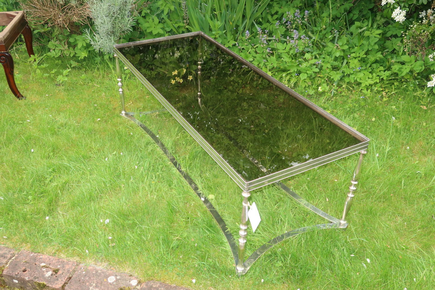 Silver plate coffee table