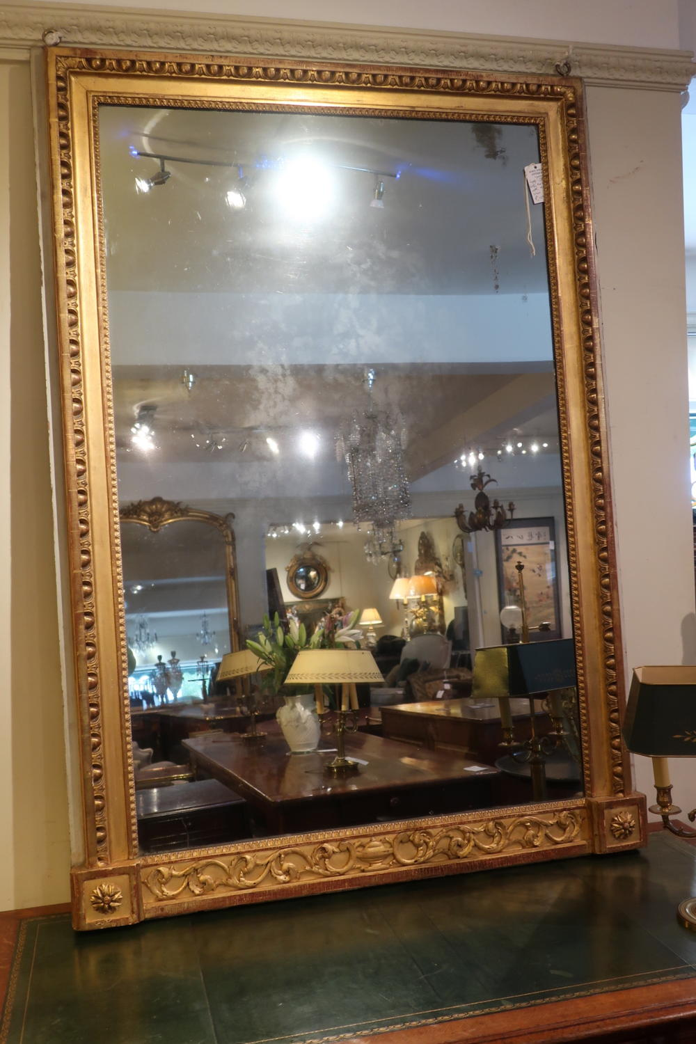 Large carved 18th Century mirror