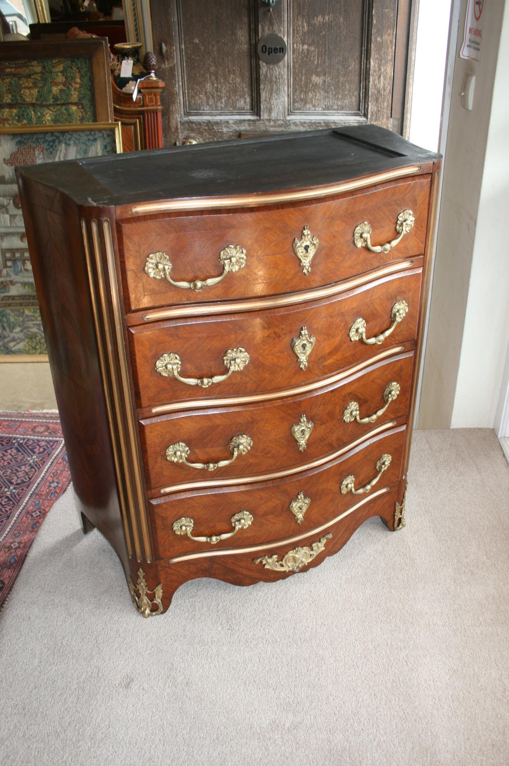 French king wood commode