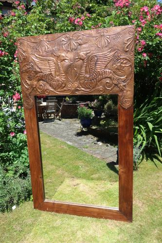 Arts and craft copper mirror