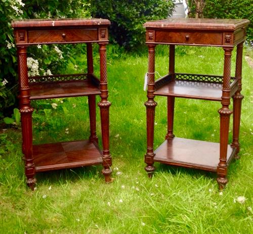 Pair of French Rosewood bedside tables