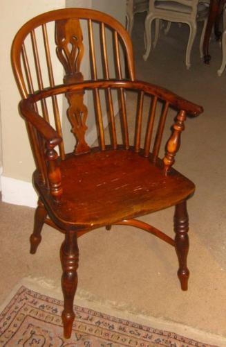 Yew Wood Windsor Armchair