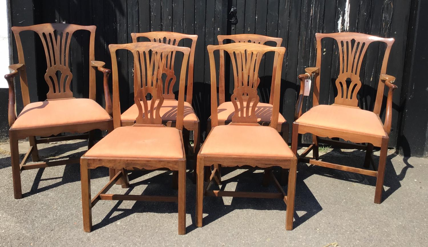 Set of 6 Mahogany Chairs