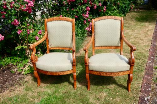 Birdseye Maple armchairs