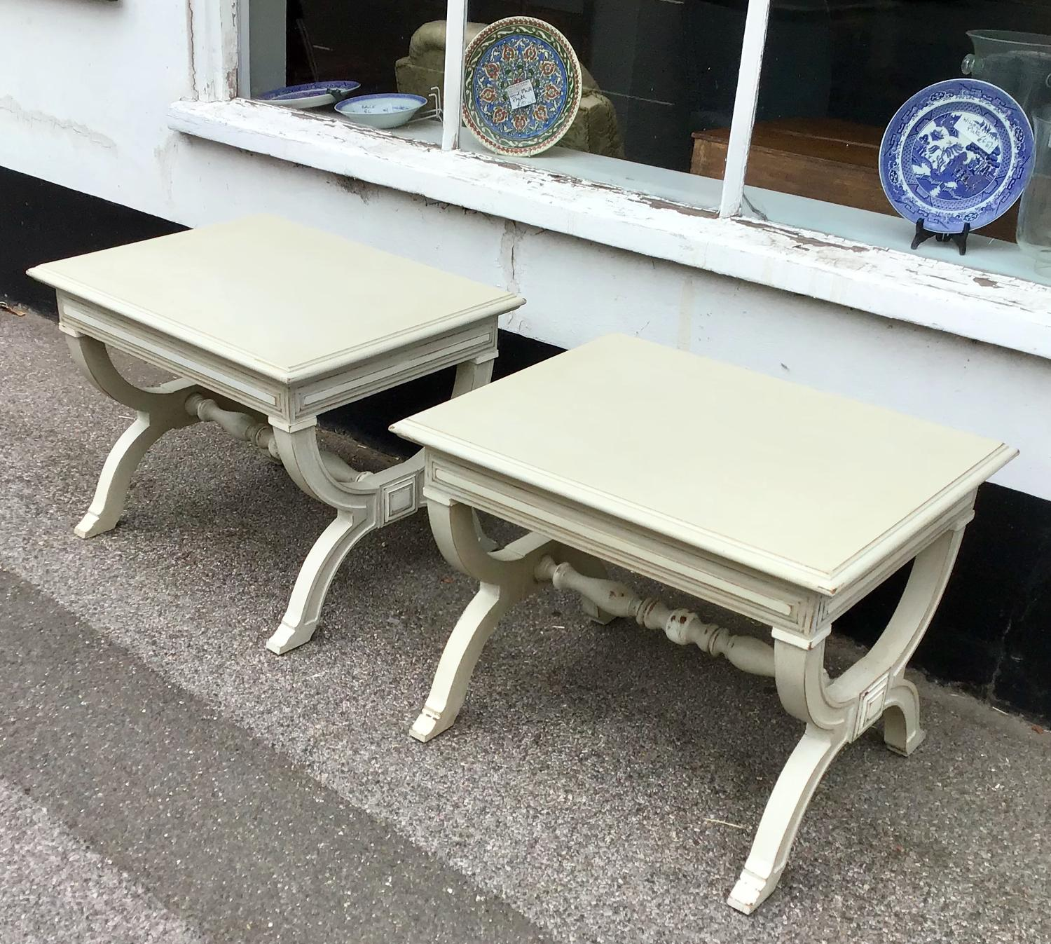 Pair of Painted Lamp Tables