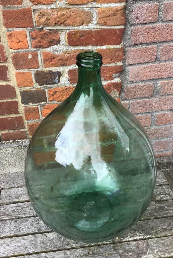 Green Olive Oil Bottle