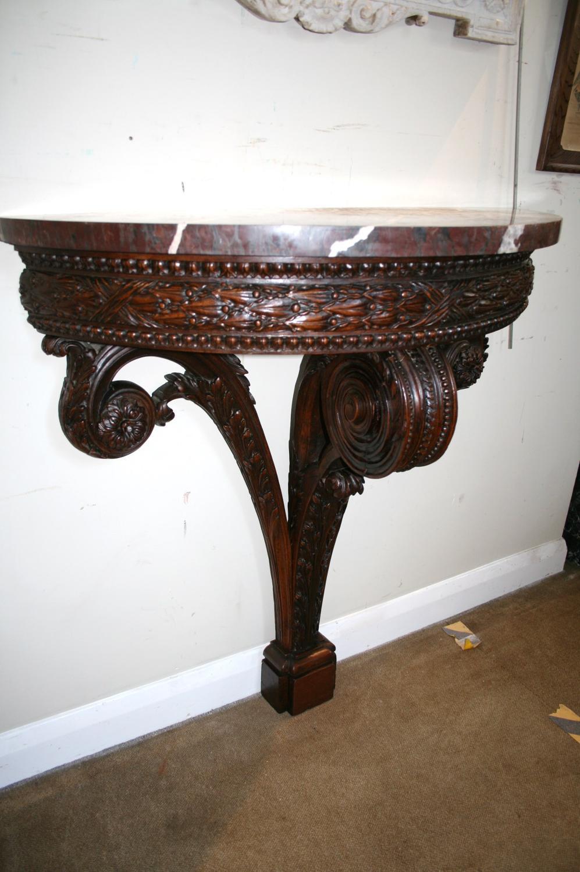 Rare 18th century walnut console table