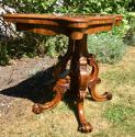 Victorian Burr Walnut Card Table - picture 4