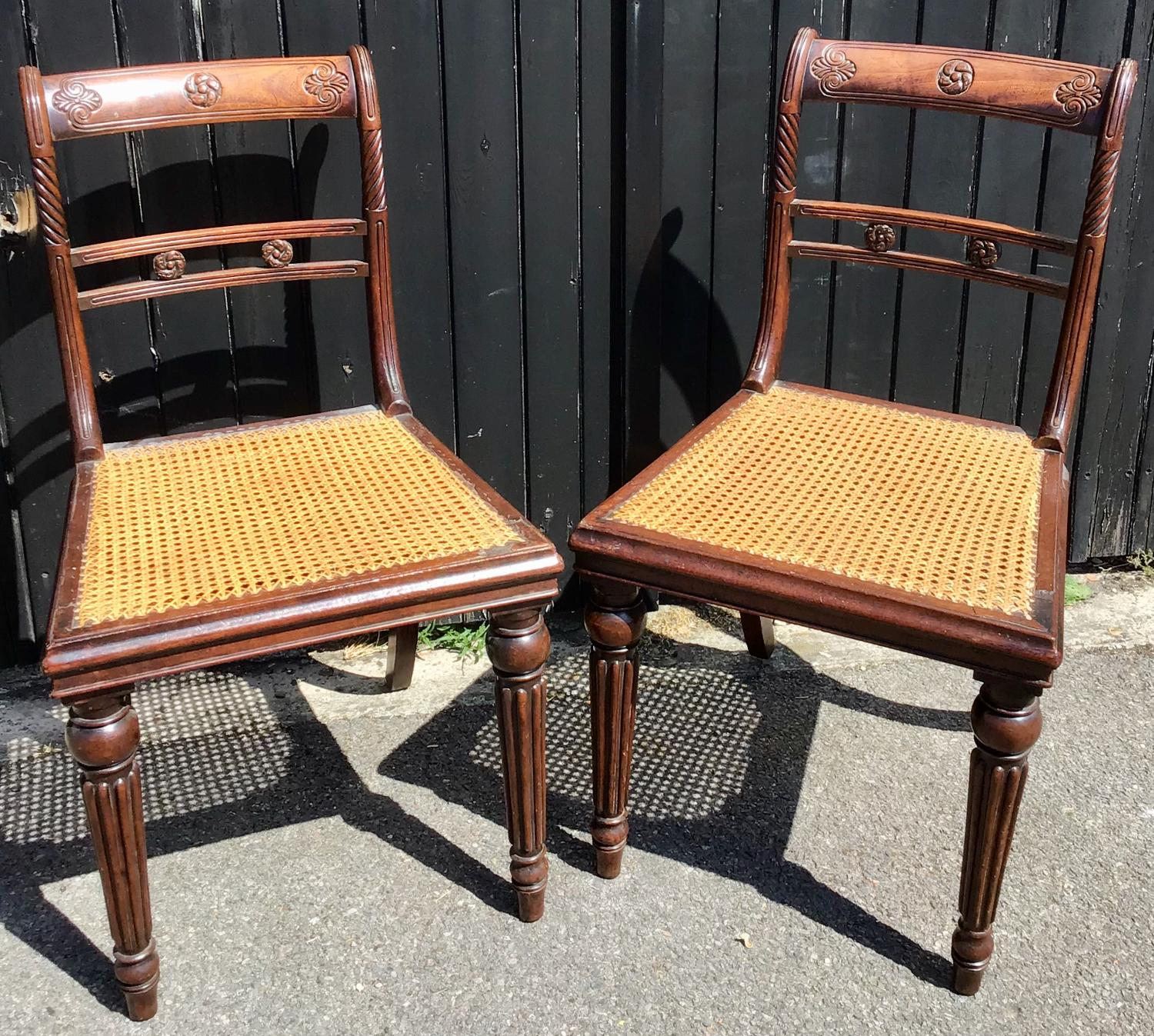 Pair of Regency Occasional Chairs