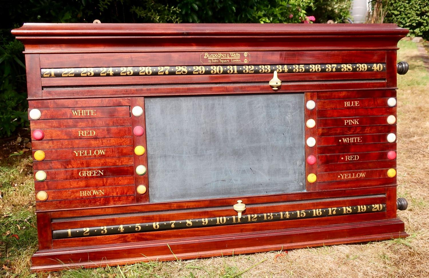 Burroughs and Watts Snooker/ Billiards scoreboard