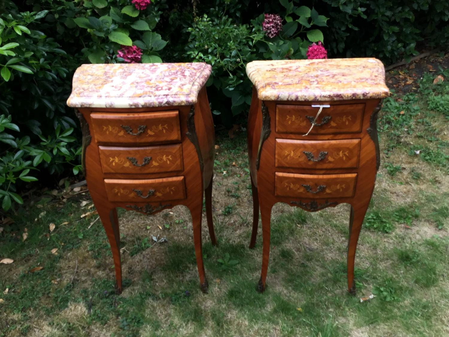 Pair of Louis XV style bedside tables