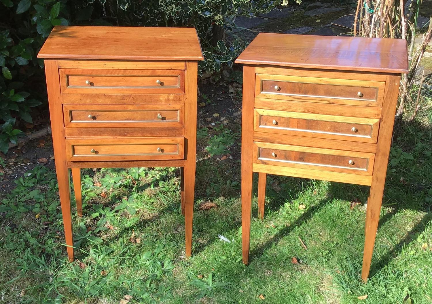 French Walnut Night Tables
