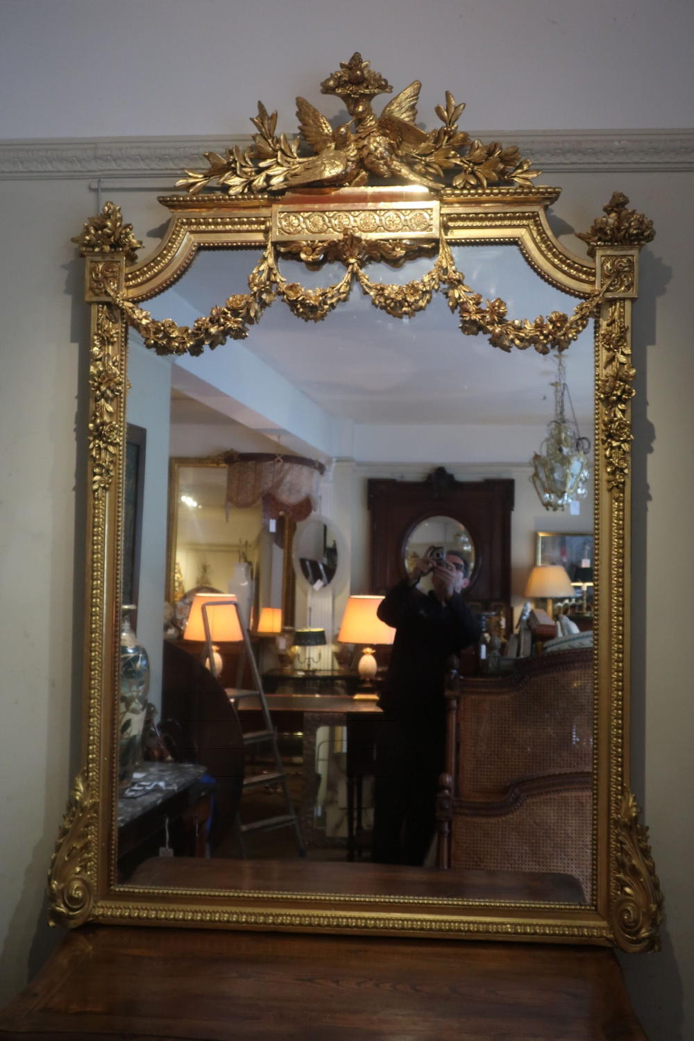 Large gilt mirror