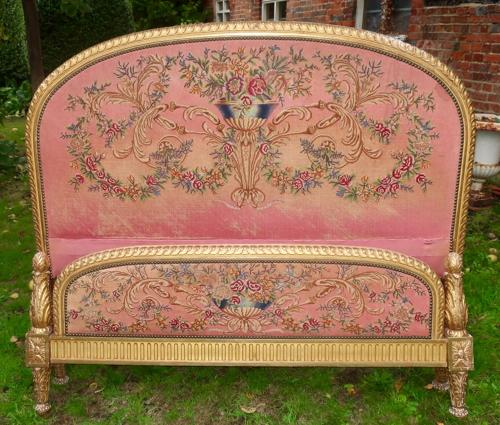 King size needlepoint French bed