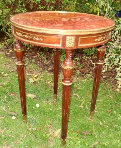 Mahogany and ormolu occasional table