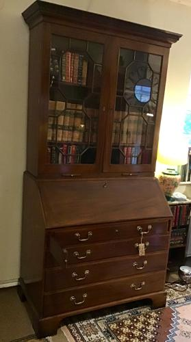 A George III Mahogany Bureau Bookcase