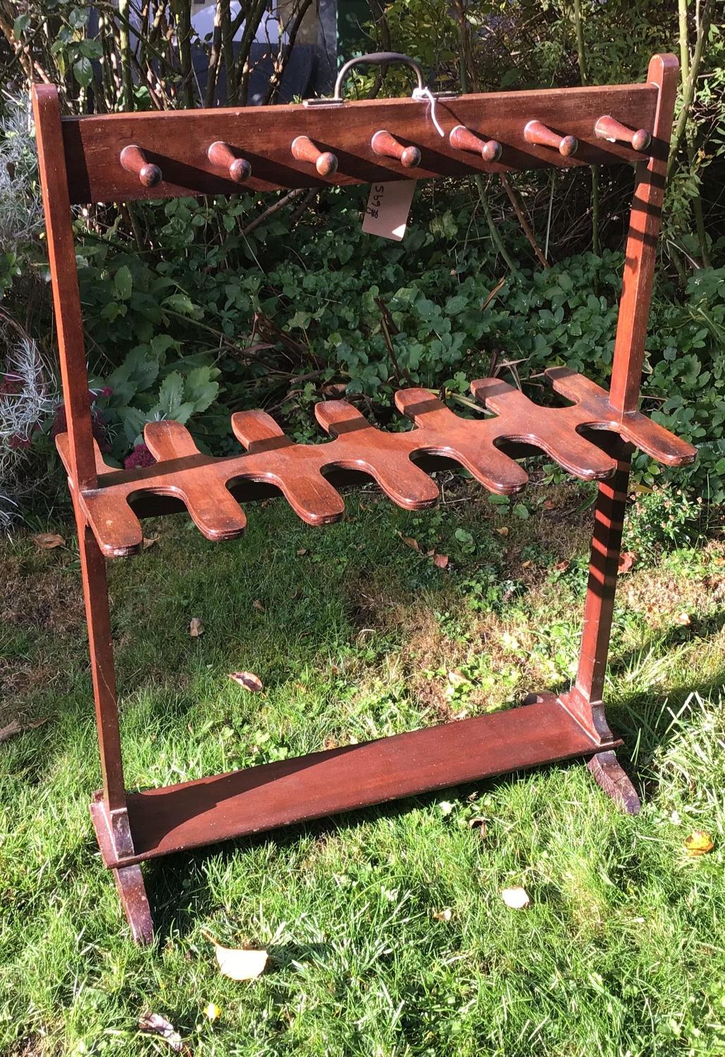 Mahogany Boot Rack