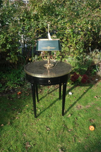 Ebonised Bouillotte table