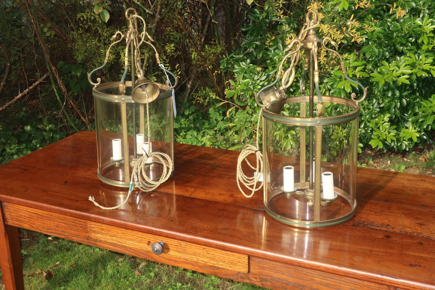 Pair of hall lanterns