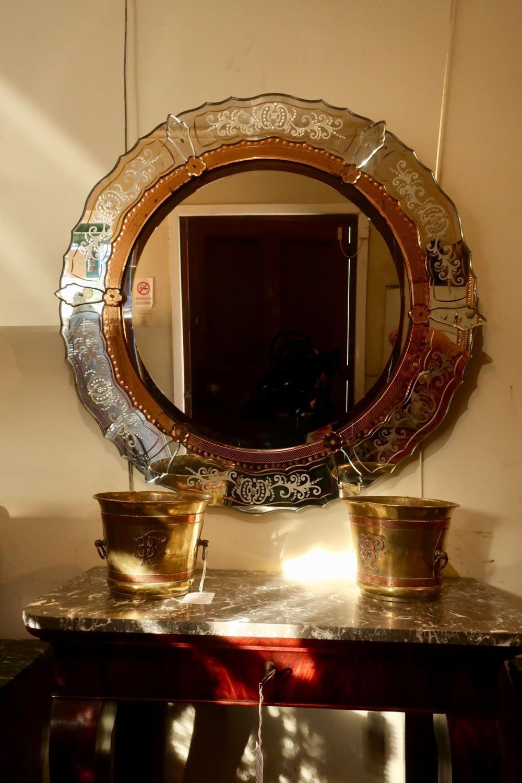 Large round Venitian mirror