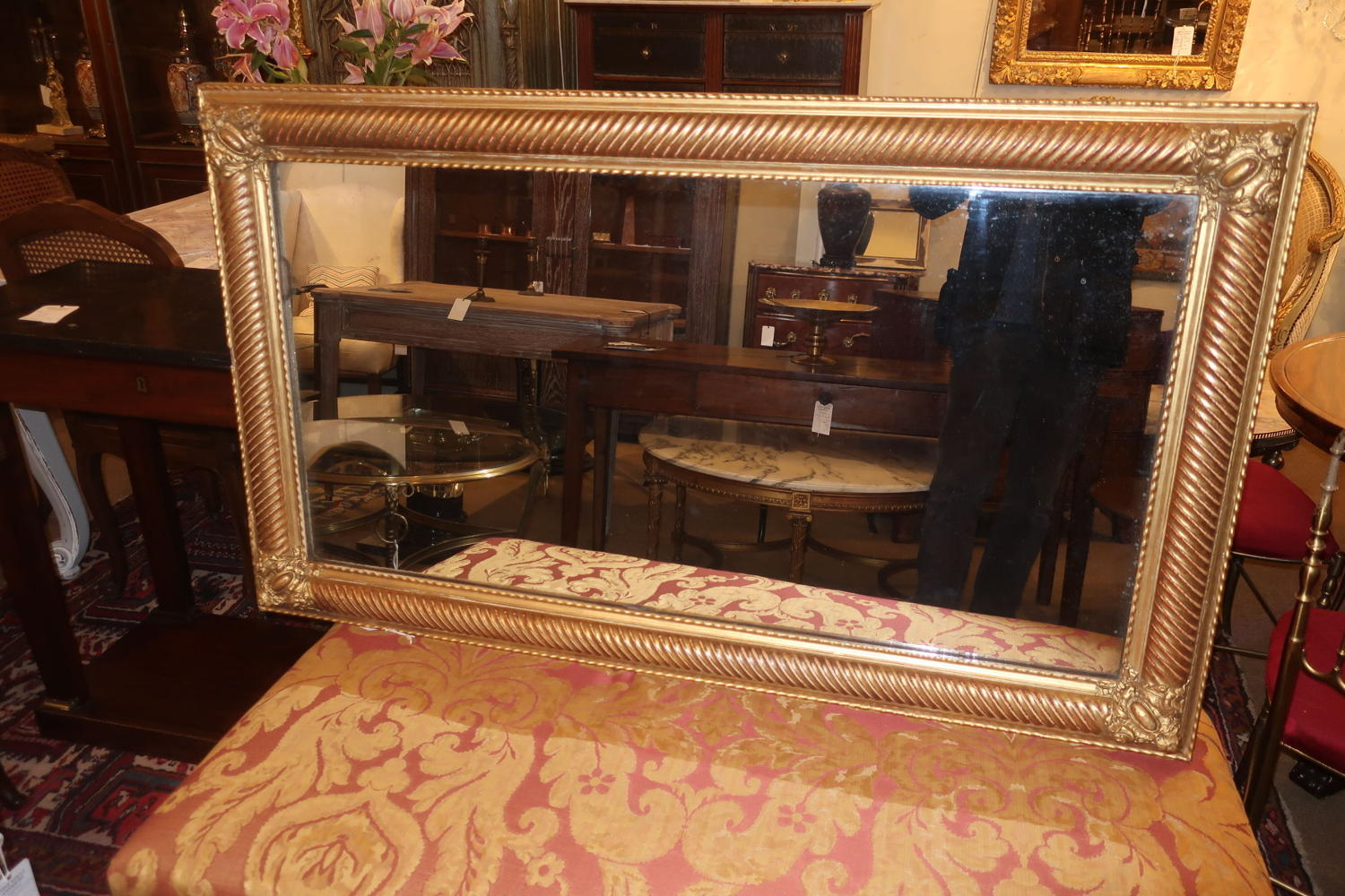 Gilt landscape mirror