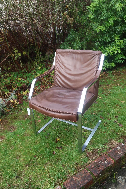 20th Century leather deskchair