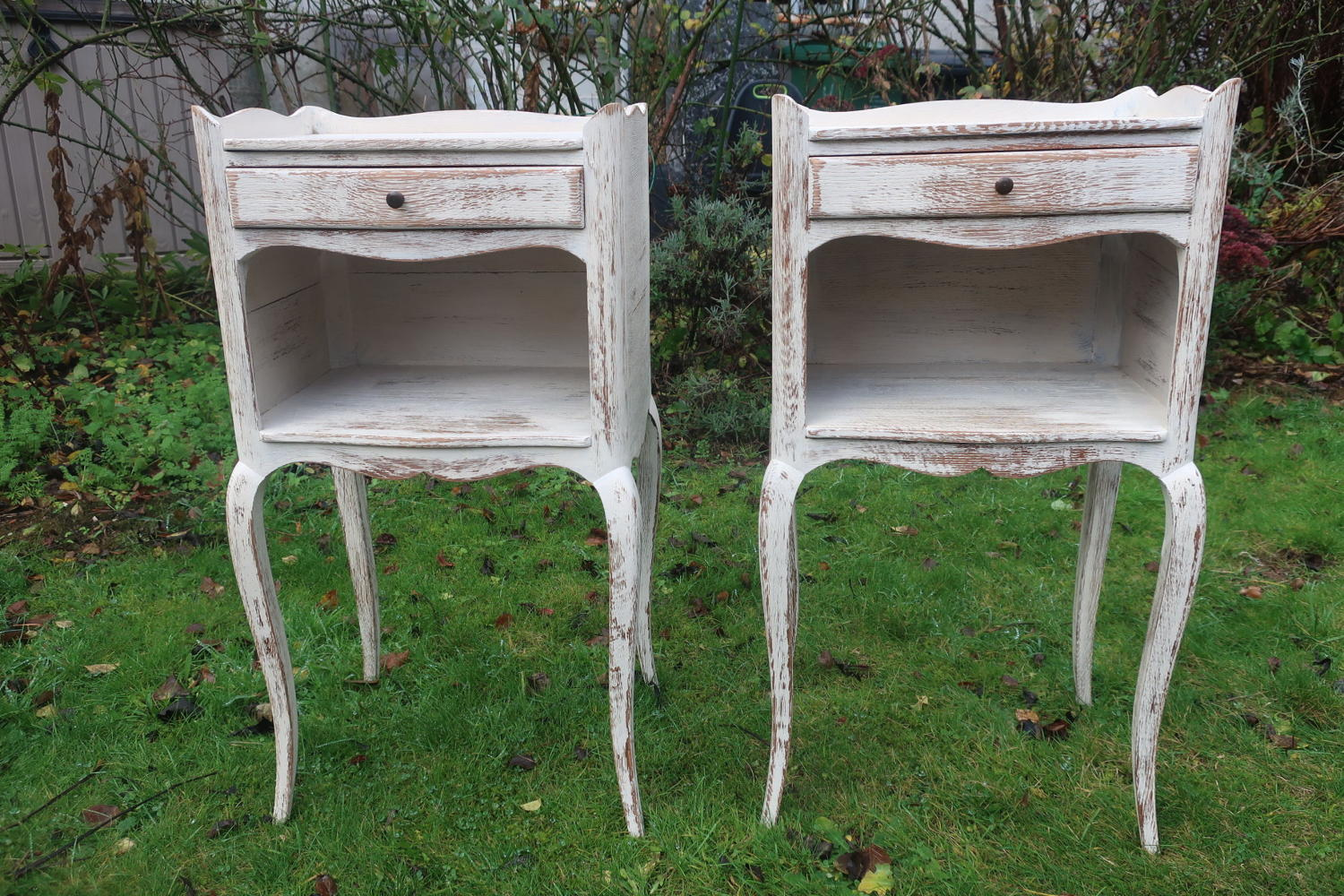 Pair of painted bedside tables