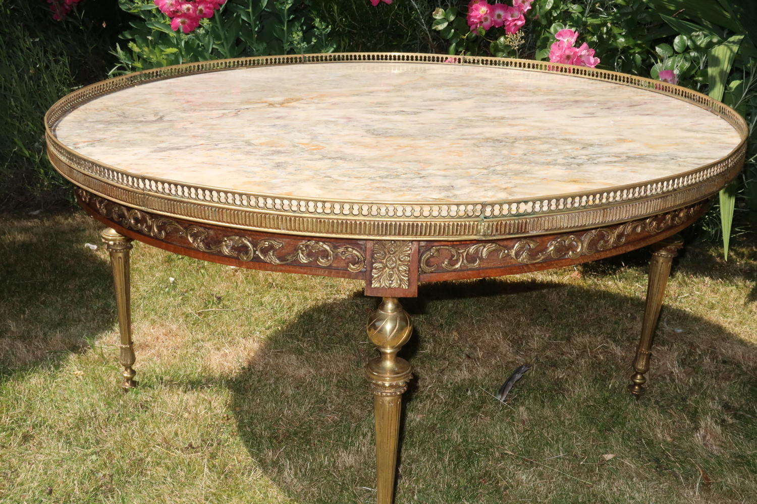 Low marble table or coffee table