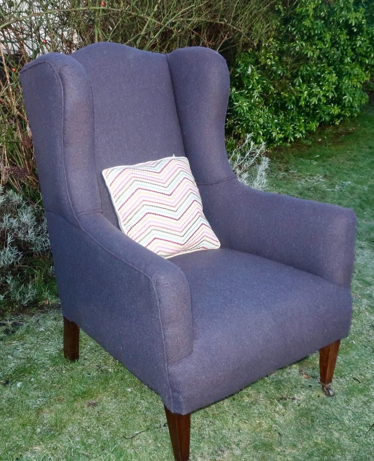 Large wingback armchair
