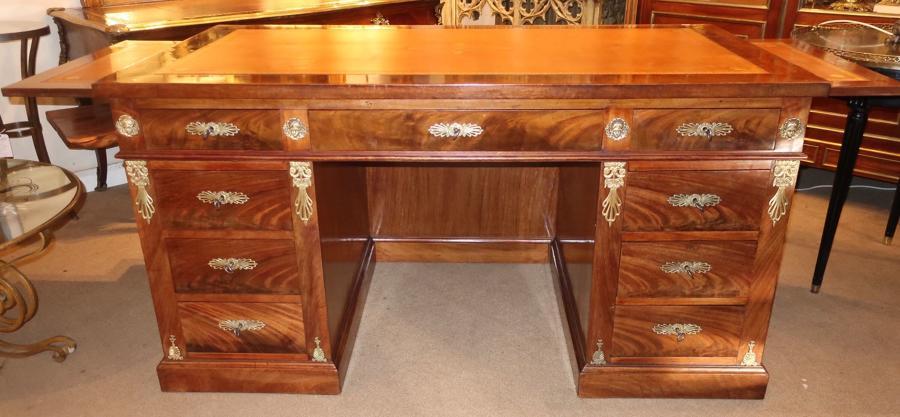 French empire pedestal desk